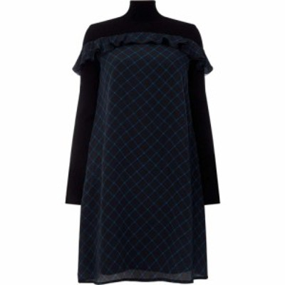 スポーツマックス Sportmax Code レディース ワンピース ワンピース・ドレス Pedina check frill dress Black