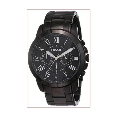 Fossil FS4832 Men's Chronograph Black Grant Black Stainless Steel Watch