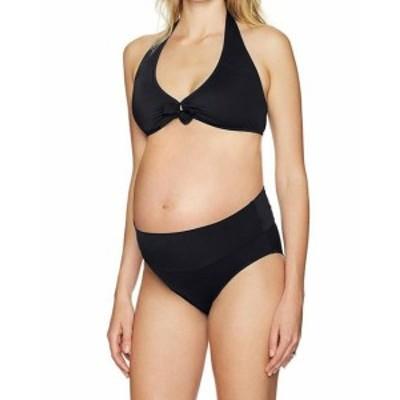 スポーツ用品 スイミング Prego Womens Swimwear Black Size Small S Bikini Maternity High-Waisted #795