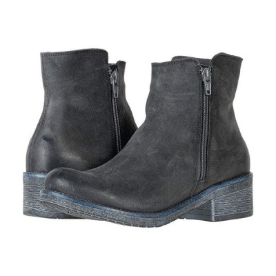 Naot Wander レディース ブーツ Brushed Oily Midnight Suede