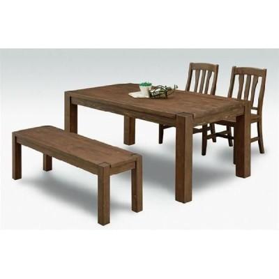 ダイニングテーブルセット ダイニングセット 4点セット 4人用 150cm幅 (ベンチタイプ)イザベラ  DBR