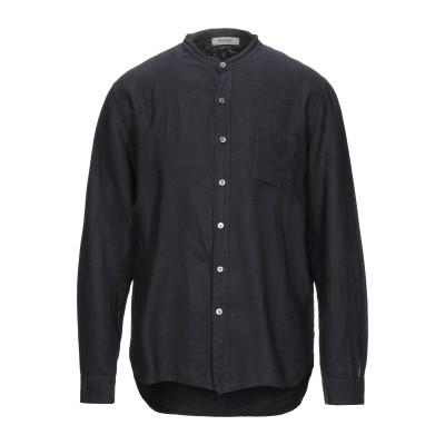 CROSSLEY シャツ スチールグレー M リネン 100% シャツ
