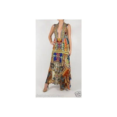 """ドレス カミリアフランク Camilla Franks """"The Ringleader"""" Swarovski Crystal Embellished V Neck Maxi Dress"""