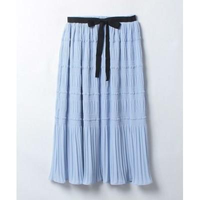 LANVIN en Bleu/ランバン オン ブルー シフォンプリーツスカート ライトブルー1 38