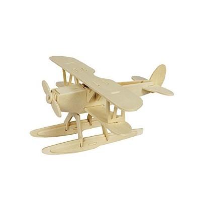 DIY Hydroplane木製パズル3dおもちゃキットクリエイティブパズルモデルキット28-piece建物キット【並行輸入