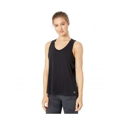 ALO エーエルオー レディース 女性用 ファッション トップス シャツ Model Tank - Black