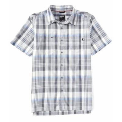 マーモット メンズ シャツ トップス Innesdale Plaid Short-Sleeve Woven Shirt Sleet