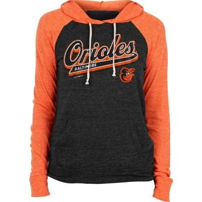ニューエラ New Era レディース パーカー トップス Baltimore Orioles Black Tri-Blend Pullover Hoodie