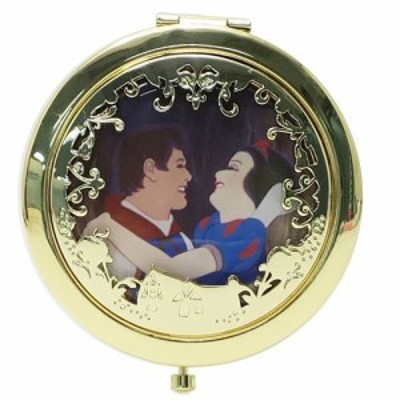白雪姫 手鏡 コンパクトミラー 王子 ディズニープリンセス キャラクターグッズ通販 メール便可