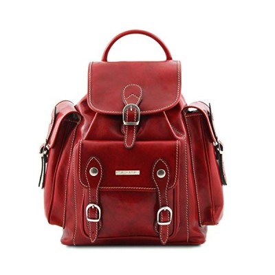 Tuscany Leather Pechino Leather Backpack Red 並行輸入品
