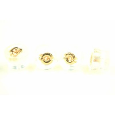 【新品】K18PGピンクゴールド ダブルロックフィットピアスキャッチ ダブルロックフィット式 ご注文数量1で2ペア分4個販売 18金 ピンクゴ