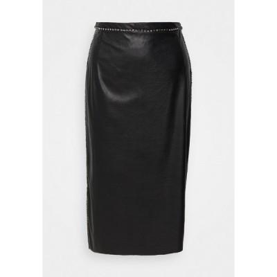 ヌメロ ヴェントゥーノ スカート レディース ボトムス Pencil skirt - black