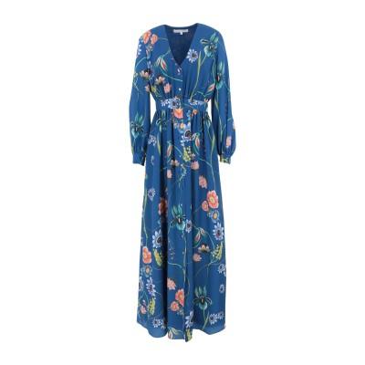 BORGO DE NOR ロングワンピース&ドレス ダークブルー 8 ポリエステル 100% ロングワンピース&ドレス