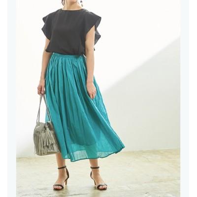 【ティティベイト/titivate】 コットンボイルボリュームスカート