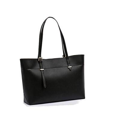 Women Leather Handbag and Purse Large Satchel Cross-body Tote Shoulder Bag (1-black) 並行輸入品