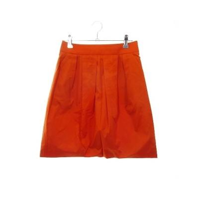 【中古】エポカ EPOCA THE SHOP スカート フレア ミニ 無地 36 オレンジ /MO レディース 【ベクトル 古着】