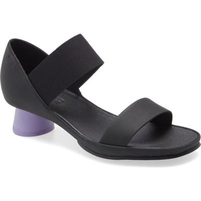 カンペール CAMPER レディース サンダル・ミュール シューズ・靴 Alright Round Heel Sandal Black/Purple Leather