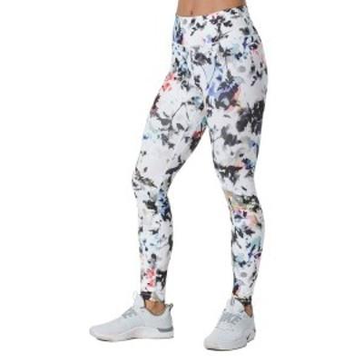 ナイキ レディース カジュアルパンツ ボトムス Nike One Women's Printed Washed Floral Tights White/Gunsmoke
