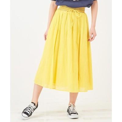 スカート 楊柳ギャザースカート