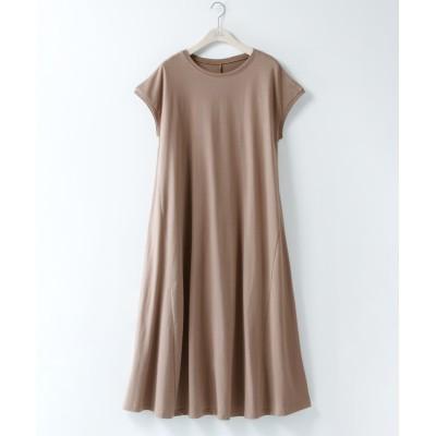大きいサイズ フレンチスリーブAラインカットソーワンピース ,スマイルランド, ワンピース, plus size dress