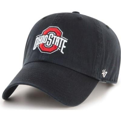 フォーティセブン 47 メンズ キャップ 帽子 ' Ohio State Buckeyes Clean Up Adjustable Black Hat