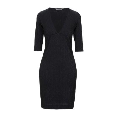 FISICO ミニワンピース&ドレス ブラック S ナイロン 80% / ポリウレタン 15% / ポリエステル 5% ミニワンピース&ドレス