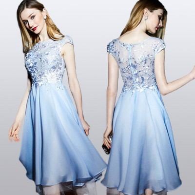 ウエディングドレス ドレス 嬢様 ダンスパーティー ドレスショートドレス 小さいドレスカラー ドレス 安い ドレスの女