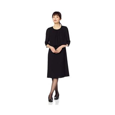 [カレット] ブラックフォーマル 前開き羽織り風ウォッシャブルワンピース 1001301 レディース (ブラック 11 号)