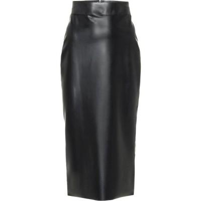 イヴ サンローラン Saint Laurent レディース ひざ丈スカート スカート Latex Midi Skirt Black