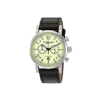 ストゥーリングオリジナル 腕時計 Stuhrling Original 583 02 メンズ 'Aviator' クォーツ ステンレス スチール & レザー 腕時計