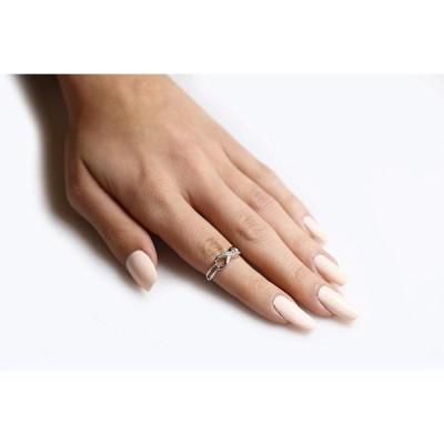 CloseoutWarehouse Cubic Zirconia Designer Aura Infinity Ring Rose Gold