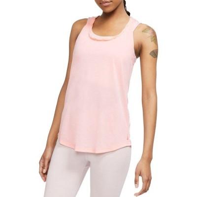 ナイキ シャツ トップス レディース Nike Women's Yoga Twist Back Training Tank Top WashedCoral