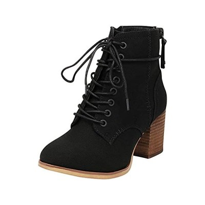 Cambridge Select Women's Combat Lace-Up Chunky Stacked Block Heel Ankle Boo