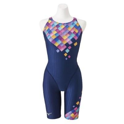 【8/31まで・20%OFF】ミズノ 競泳水着 N2MG025087 サイズ女L ハーフスーツ(マスターズバック) FINA承認 STREAM ACE 2020年春夏モデル