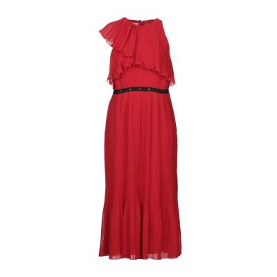 ジャンバ GIAMBA 7分丈ワンピース・ドレス レッド 40 ポリエステル 100% 7分丈ワンピース・ドレス