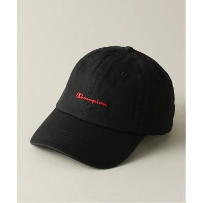 メンズ ベーセーストック 【CHAMPION / チャンピオン】logo basic cap ブラック フリー