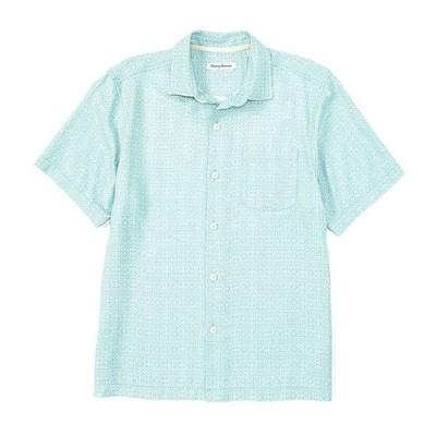 トッミーバハマ メンズ シャツ トップス Traveling Geo Silk Short-Sleeve Woven Shirt