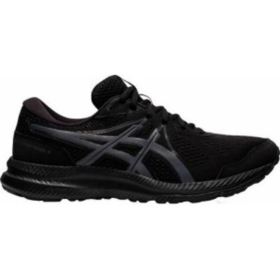 アシックス メンズ スニーカー シューズ ASICS Men's GEL-CONTEND 7 Running Shoes Black/Grey