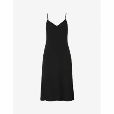 リフォーメーション REFORMATION レディース ワンピース Vネック ミドル丈 ワンピース・ドレス Chianti V-neck crepe midi dress BLACK