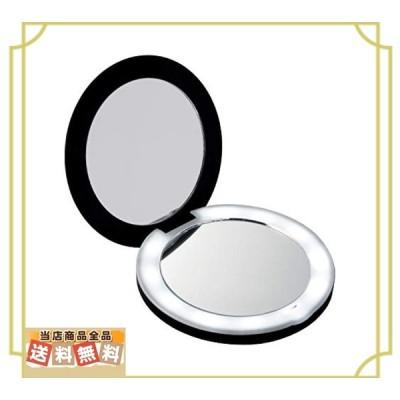 コモライフ(Comolife) 10倍拡大鏡コンパクト2面ミラー(ライト付) 約直径9厚み1.5cm