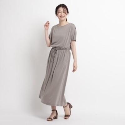スーナウーナ(SunaUna)/【洗える】ソフト天竺マキシワンピース