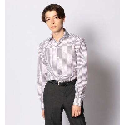 【トゥモローランド/TOMORROWLAND】 コットンリネンブロード ワイドカラー ドレスシャツ NEW WIDE-5