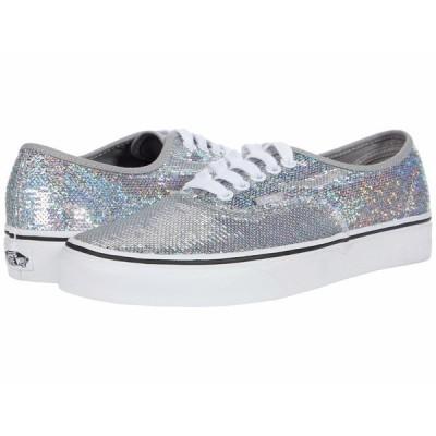 バンズ スニーカー シューズ メンズ Authentic (Micro Sequins) Silver/True White