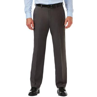 ハガー メンズ カジュアルパンツ ボトムス Cool 18 Pro Classic Fit Flat Front Hidden Expandable Waistband Pants