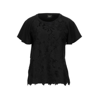 リュー ジョー LIU •JO T シャツ ブラック 42 コットン 95% / ポリウレタン 5% / ポリエステル T シャツ