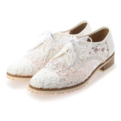 シューズラウンジ shoes lounge マニッシュ レースシューズ AE301194WHレース (ホワイト)