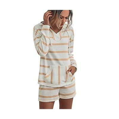 Autumn Striped Hoodies Sweatshirt Pants Clothes Set Women Leisure Wear Suit