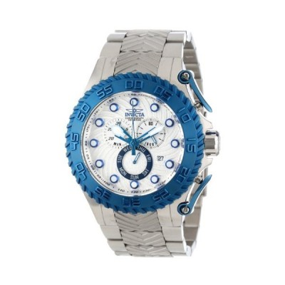 Invicta Men's 12944 Pro Diver Chronograph Silver Textured Dial Stainless Steel Watch【並行輸入品】