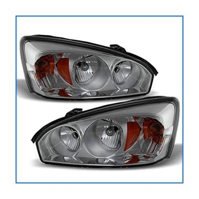 ACANII - For Smoked 2004-2008 Chevy Malibu Replacement Headlights Headlamps 04-08 Replacement Driver + Passenger Side[並行輸入品]