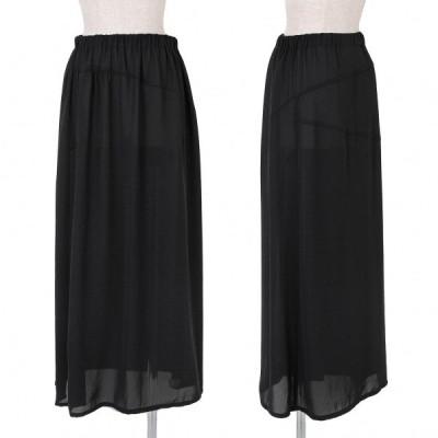 トリココムデギャルソンtricot COMME des GARCONS ジョーゼットシースルースカート 黒M位 【レディース】